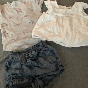 Bundle of three girl clothes 6-12 months